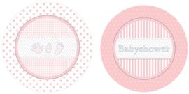 BS- Bordjes roze