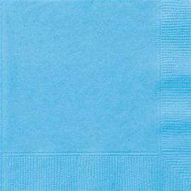Lichtblauw- Servetten