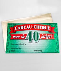 Cheque- 40 jaar