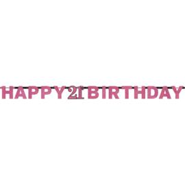 Pink 21 letterslinger