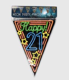 Neon vlaglijn- 21 jaar
