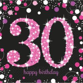 Pink 30 servetten