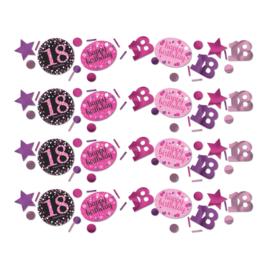 Pink 18 confetti