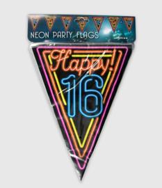 Neon vlaglijn- 16 jaar
