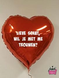 Valentijn- Folie met tekst