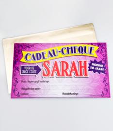 Cheque- Sarah