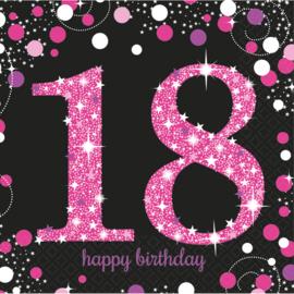 Pink 18 servetten