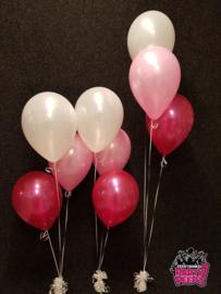 Helium- Tafeldeco 3 wit roze fuchsia