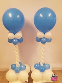 Mini Pilaar- Wit licht blauw