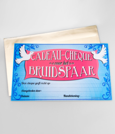 Cheque- Bruidspaar