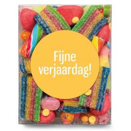 Snoepkado- Fijne verjaardag!