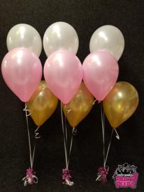 Helium- Tafeldeco 3 wit goud roze