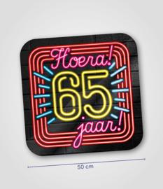Neon- Schild 65 jaar