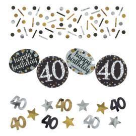 Gold 40 confetti