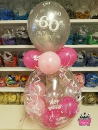 Verjaardag- Stuffer HB 60 zilver fuchsia roze