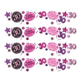 Pink 30 confetti
