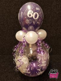 Verjaardag- Stuffer HB 60 paars wit