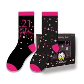 Sokken- roze 21