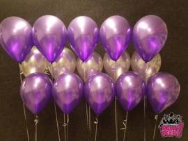 Helium- Tafeldeco 3 paars zilver