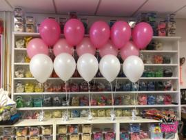 Helium- Tafeldeco 3 wit roze