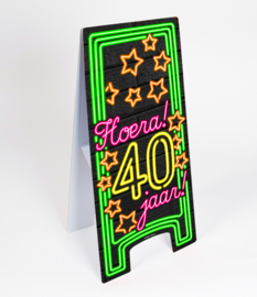 Neon- Sign 40 jaar