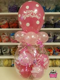 Verjaardag- Stuffer HB fuchsia licht roze