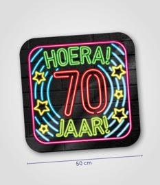 Neon- Schild 70 jaar