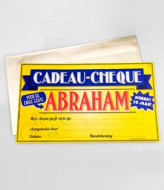 Cheque- Abraham