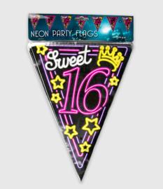 Neon vlaglijn- Sweet 16