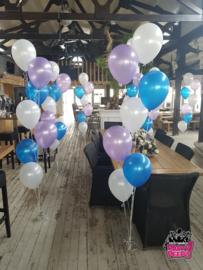 Helium- Gronddeco 7 blauw, lila wit