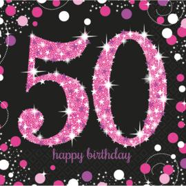 Pink 50 servetten