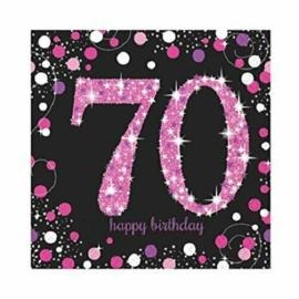 Pink 70 servetten