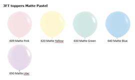 Topballonnen matte pastel 3FT