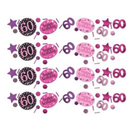 Pink 60 confetti