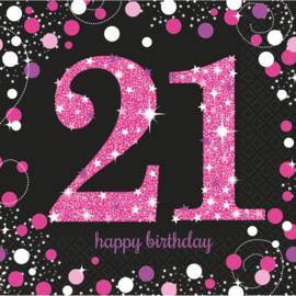 Pink 21 servetten