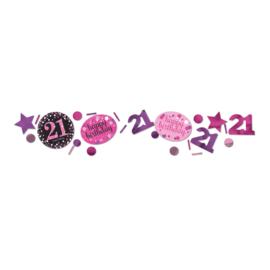 Pink 21 confetti