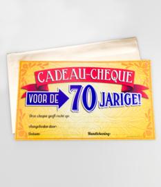 Cheque- 70 jaar