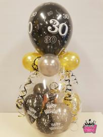 Verjaardag- Stuffer HB 30 zwart goud zilver