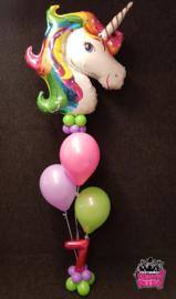 Helium- Gronddeco met unicorn en cijfer