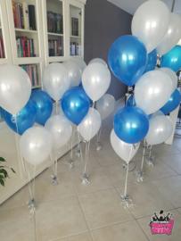 Helium- Gronddeco 5 blauw en wit
