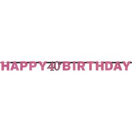 Pink 40 letterslinger