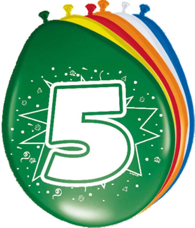 Ballonnen- 5 jaar