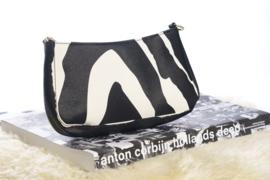 Schoudertas zebra klein
