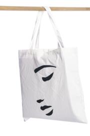 Shopper figuur wit