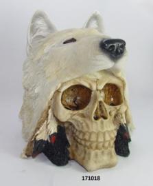 171018 Skull met wolf