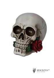 600520 Schedel met roos
