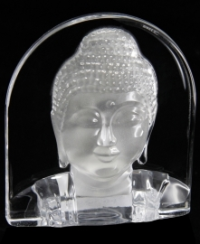 200299 Boeddhahoofd van glas
