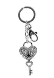 900877 sleutelhanger tasje met sleutel