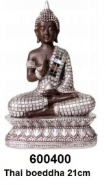 600400 Thai Boeddha zittend 21cm