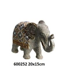 600252 Olifant met spiegeltjes decoratie